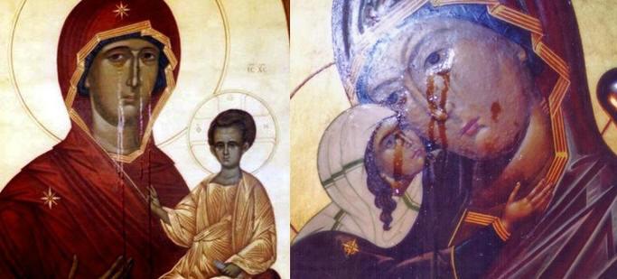 Weinende Ikonen in Russland