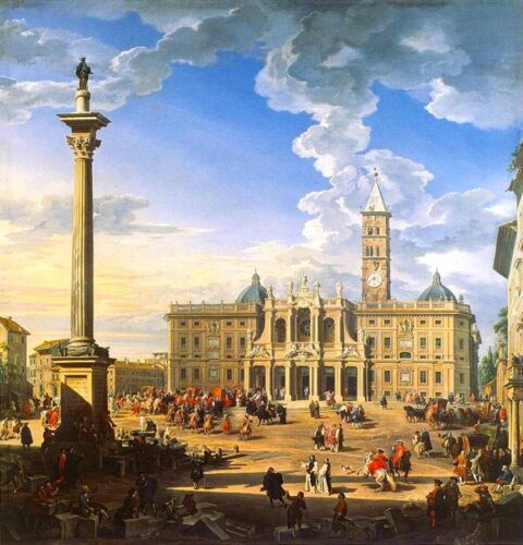 Giovanni Paolo Pannini - The Piazza and Church of Santa Maria Maggiore